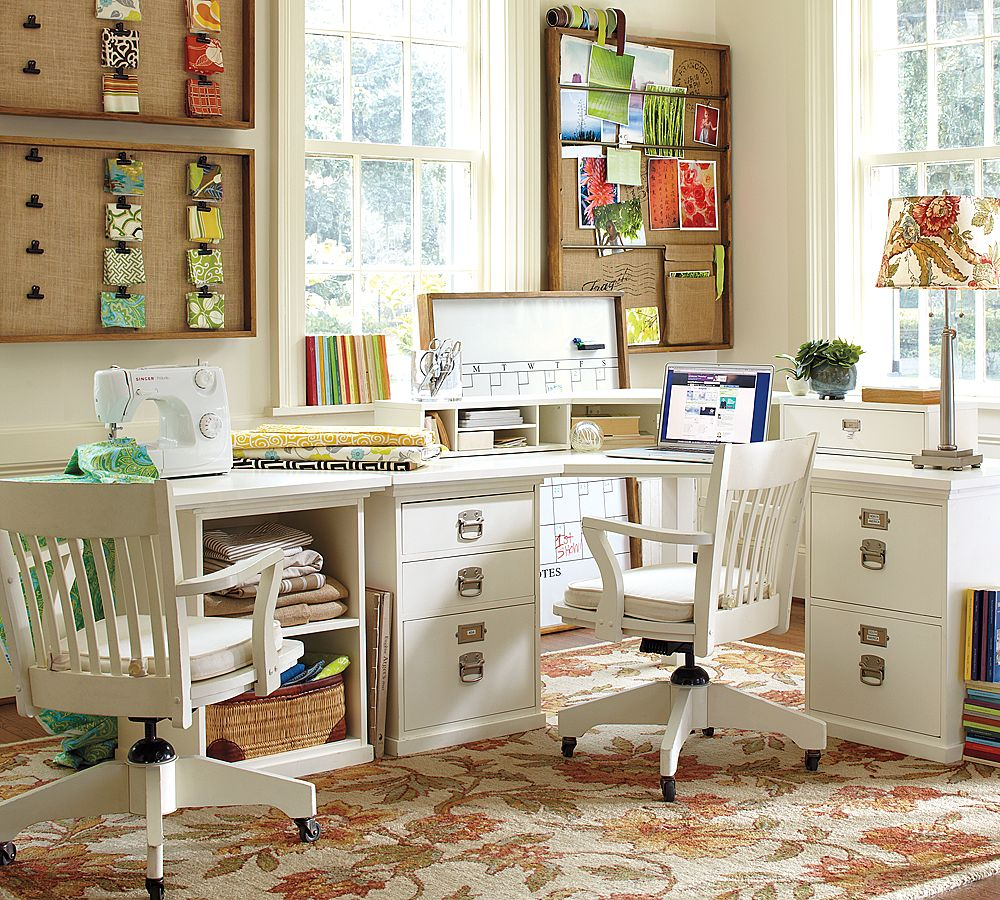 Apartment office decorating: simple white color small apartment ...