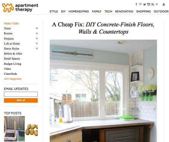 apartment therapy DIY concrete